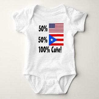 50% American 50% Puerto Rican 100% Cute Baby Bodysuit