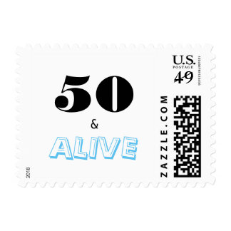 50 and Alive | Typography Fiftieth Anniversary Postage