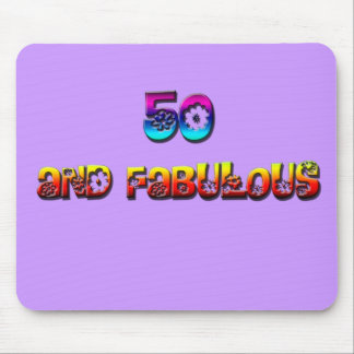 50 and fab rainbow mouse pad