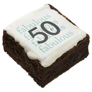 50 and Fabulous 50th Birthday Brownies
