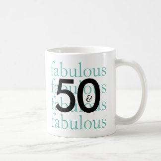 50 and Fabulous 50th Birthday Gift Mug