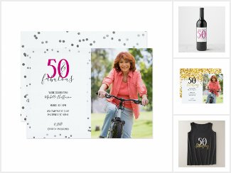 50 and Fabulous 50th Birthday Party Essentials