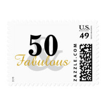 50 and Fabulous 50th Birthday Postage