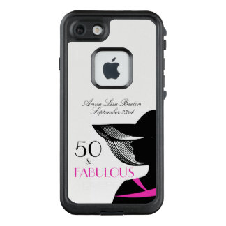 50 and Fabulous Art Deco Elegant 50th Birthday LifeProof FRĒ iPhone 7 Case