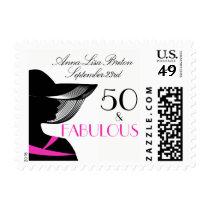 50 and Fabulous Art Deco Elegant 50th Birthday Postage
