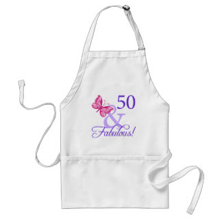 50 And Fabulous Birthday Adult Apron