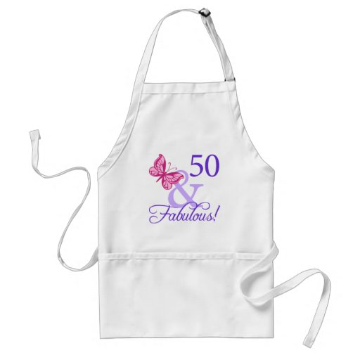 50 And Fabulous Birthday Apron