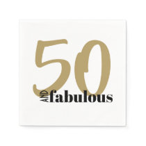 50 and Fabulous Birthday Party Cocktail Napkins