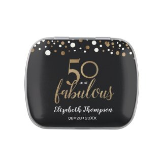 50 and fabulous birthday party gift favor candy tin