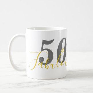 50 and Fabulous Birthday Party Mug