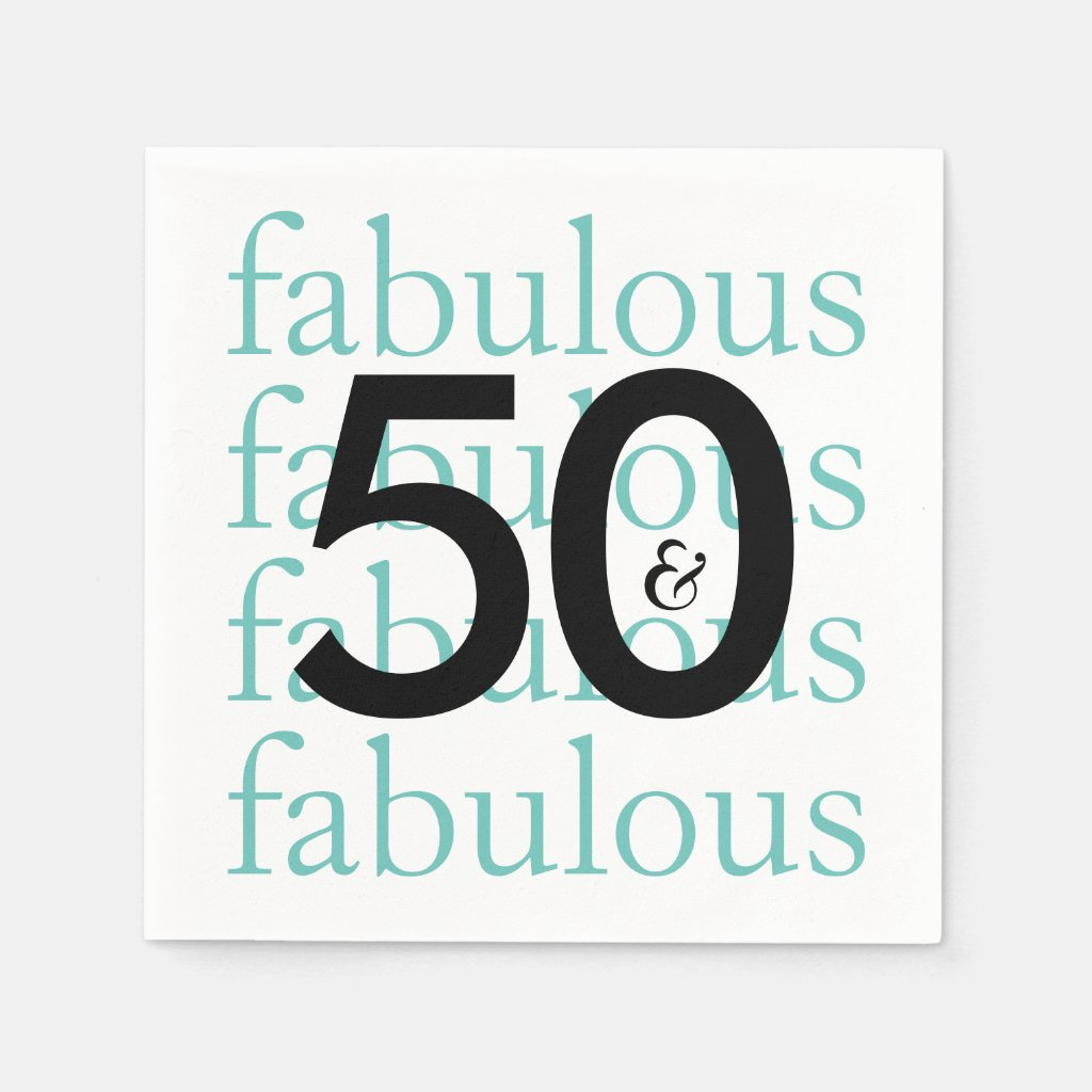 50 and Fabulous Party Supplies and Gifts