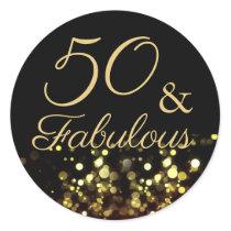 50 and Fabulous Birthday Sticker