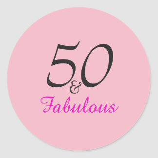 50 and Fabulous Birthday   stickers