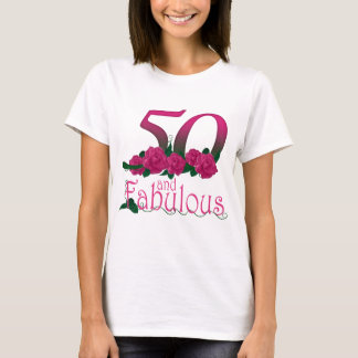 50 and fabulous birthday T-shirt