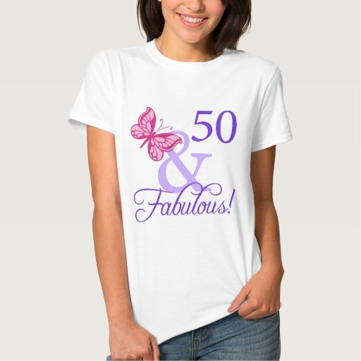 50 And Fabulous Birthday Tee Shirt