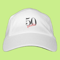 50 And Fabulous Black Pink Fiftieth Birthday Hat