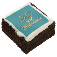 50 and Fabulous Brownies Square Brownie