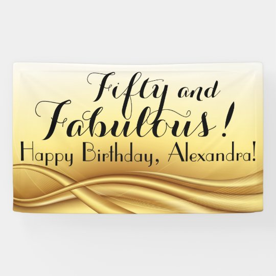 50 and fabulous custom 50th birthday party banner zazzle com