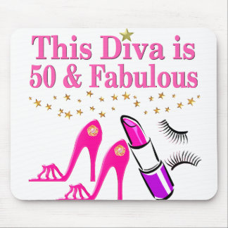 50 AND FABULOUS DIVA MOUSE PAD