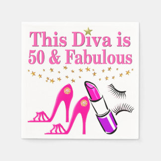 50 AND FABULOUS DIVA NAPKIN