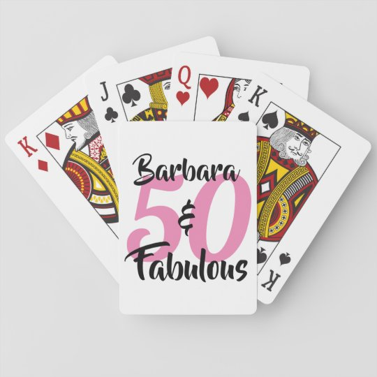 50 And Fabulous Personalized Birthday Party Playing Cards