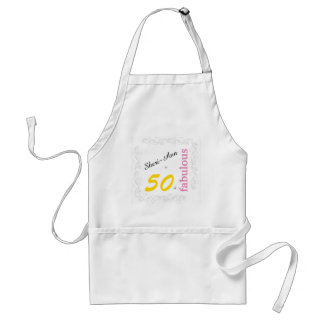 50 and Fabulous Personalized Themed Apron