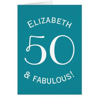 50 and Fabulous Simple Style Custom Color A03 Card