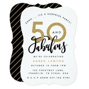 50 And Fabulous Invitations Zazzle
