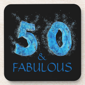 50 and Fabulous Swimmer Swimming 50th Birthday Drink Coaster