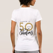 50 and fabulous t shirt