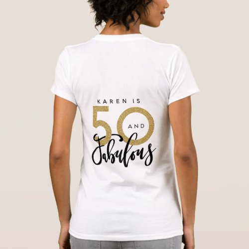 50 and fabulous t shirt