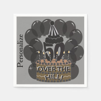 50 and Over the Hill Birthday Napkins