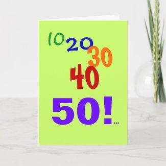 50 and Still Accounting - Public Accountant CPA 50th Birthday Card card
