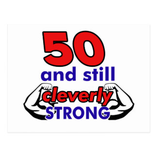 50 and still cleverly strong postcard