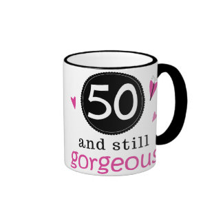 50 And Still Gorgeous Birthday Gift Idea For Her Coffee Mugs