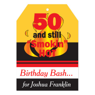 50 and Still Smokin Hot | 50th Birthday Invitation