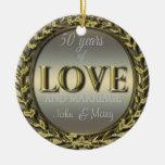 50 años de amor ornamentos de navidad