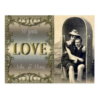 50 años de amor tarjeta postal