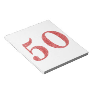 50 años de aniversario blocs de papel