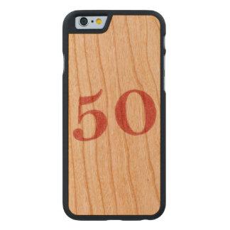 50 años de aniversario funda de iPhone 6 carved® slim de cerezo