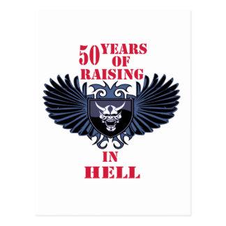 50 años de aumento en infierno tarjetas postales