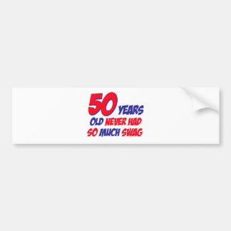 50 años de diseño pegatina para auto