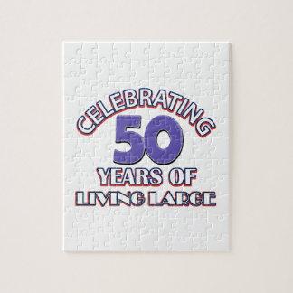 50 años de diseños grandes de vida del cumpleaños puzzles