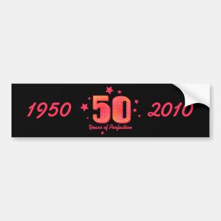 50 años de envoltura de la botella de agua de la p pegatina para auto