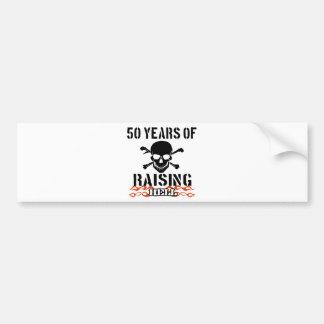 50 años de infierno de aumento etiqueta de parachoque