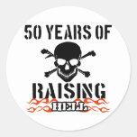 50 años de infierno de aumento etiquetas redondas