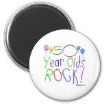 ¡50 años de la roca! Imán