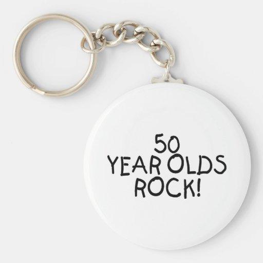50 años de la roca llaveros personalizados