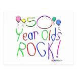¡50 años de la roca! postal