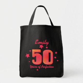 50 años de perfección bolsa tela para la compra